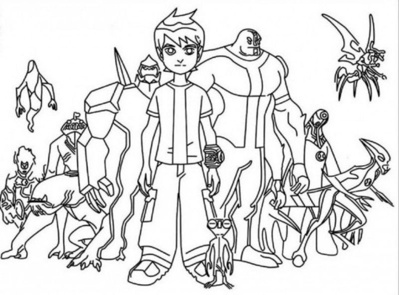 10 Coloring Page