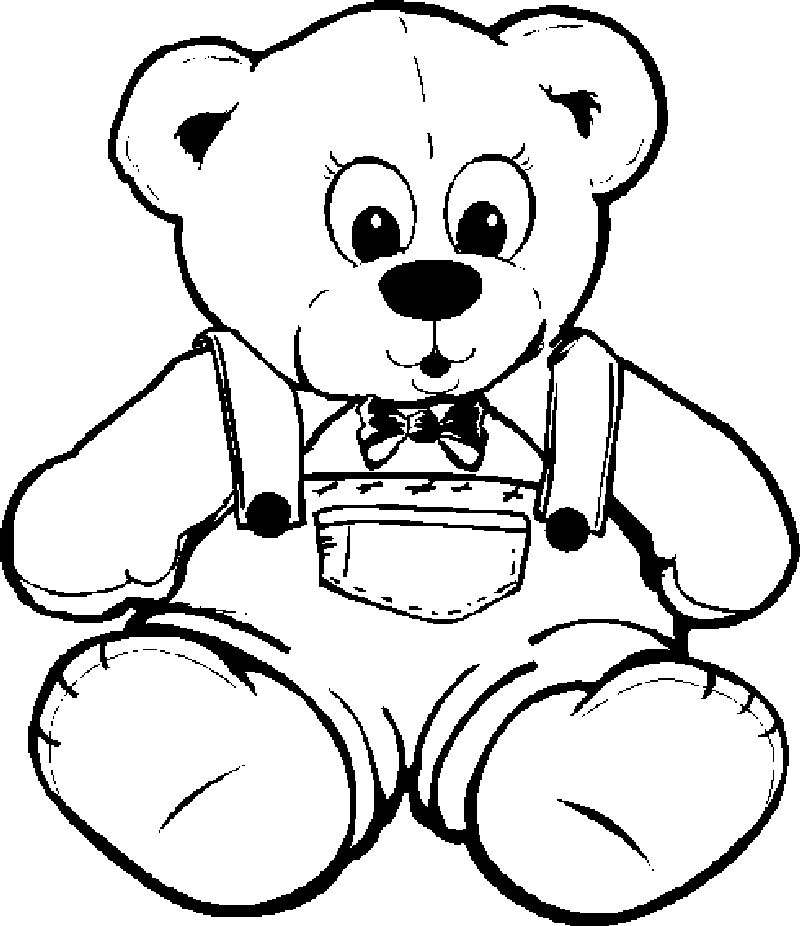 A Bear Coloring Page