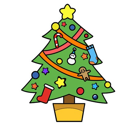 A Christmas Tree Coloring Page free