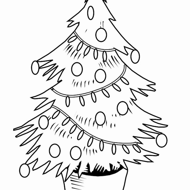 A Christmas Tree Coloring Page