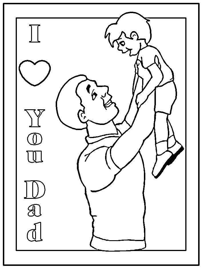 A Fathers Day Coloring Page