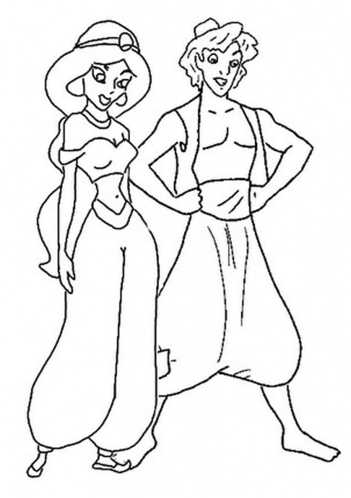 Abu From Aladdin Coloring Pages