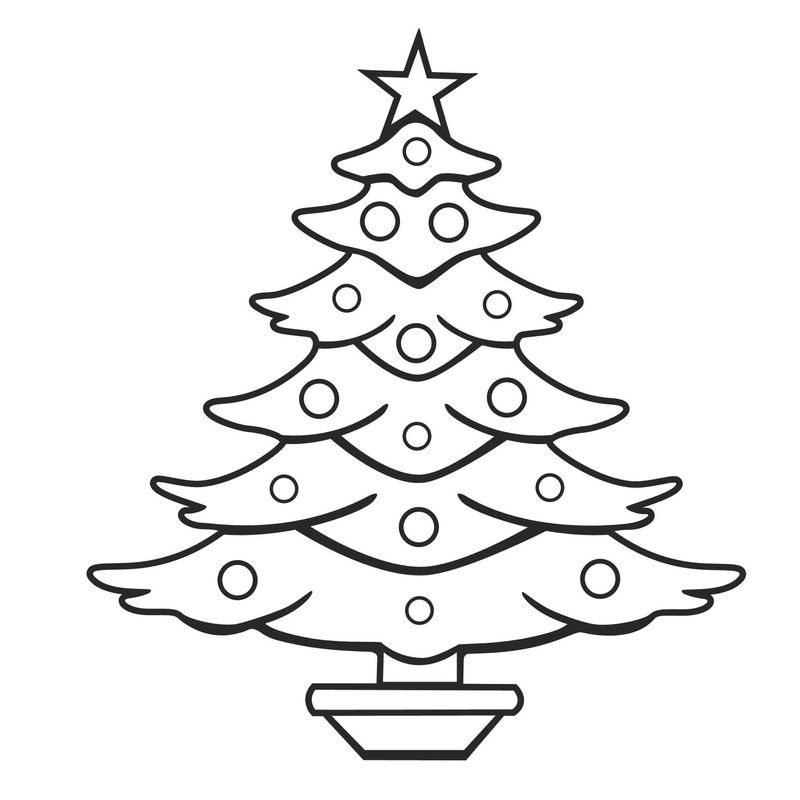 Adult Christmas Tree Owl Coloring Pages