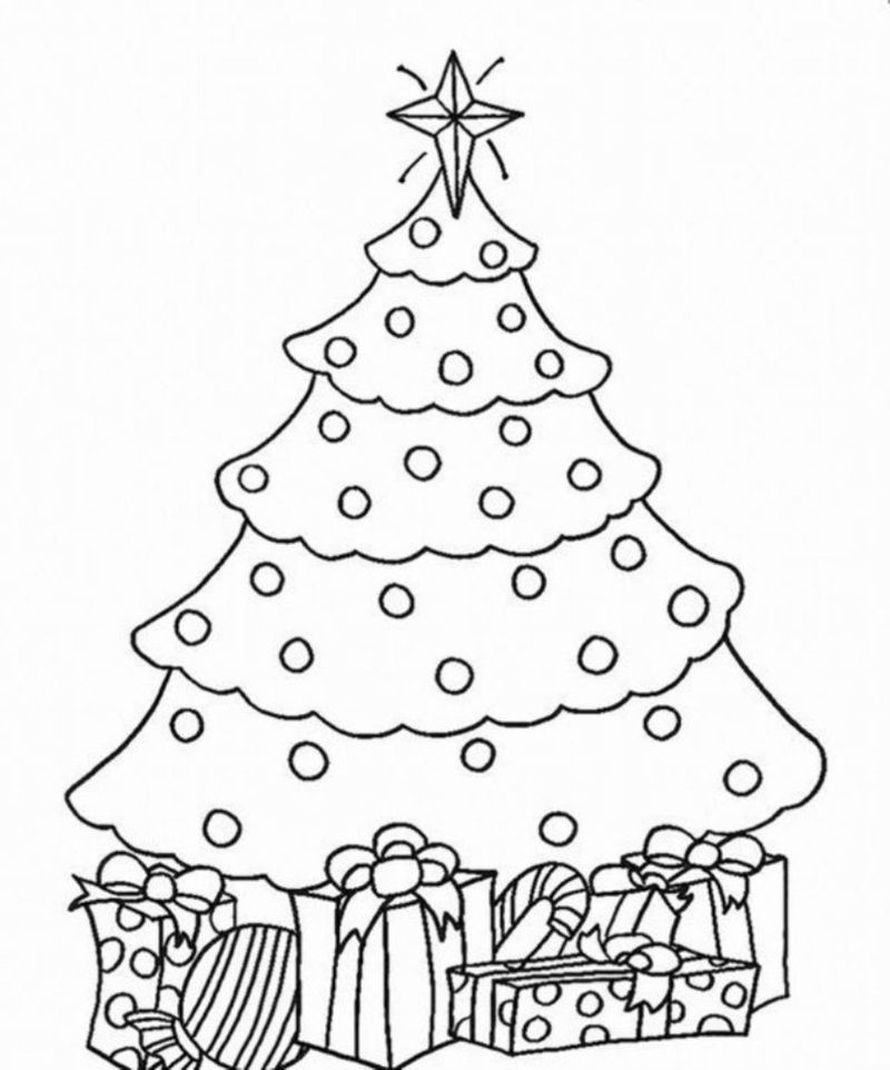 Adult Coloring Pages Christmas Tree