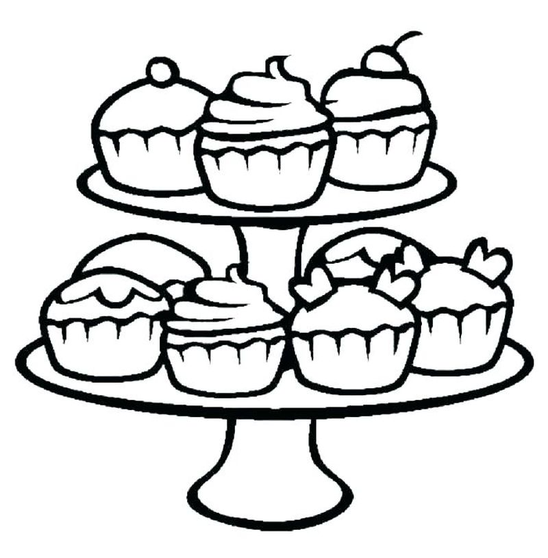Adult Cupcake Coloring Pages