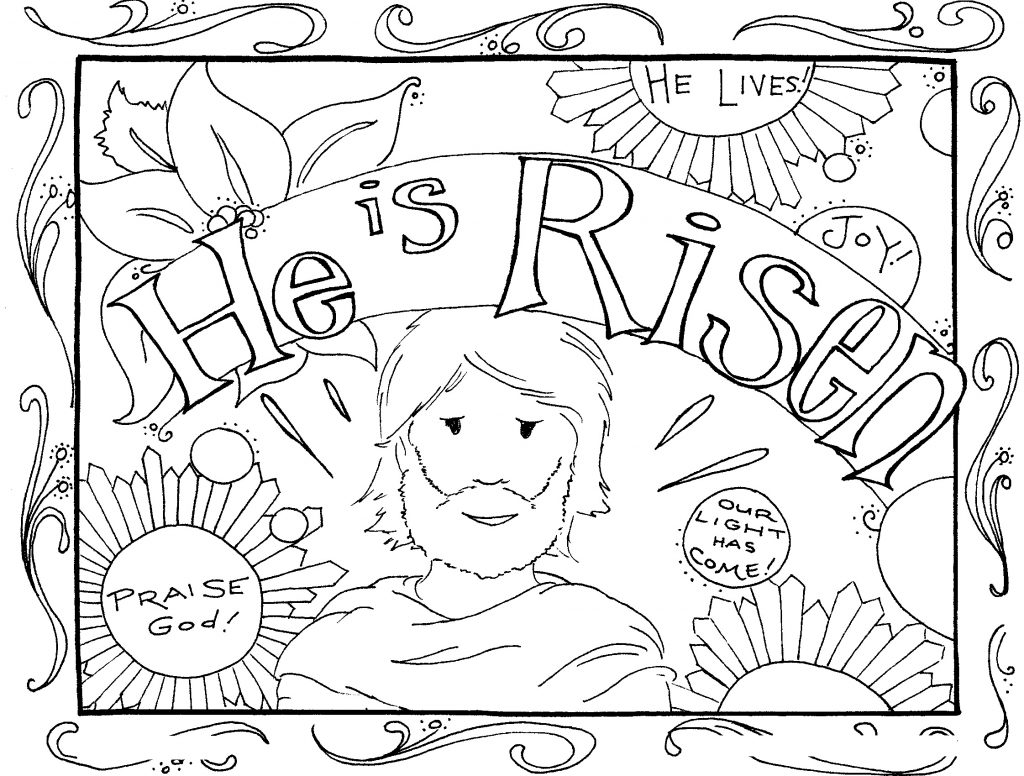 Adult Easter Coloring Pages He is Risen