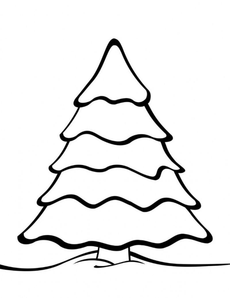 Advanced Christmas Tree Coloring Pages For Kids