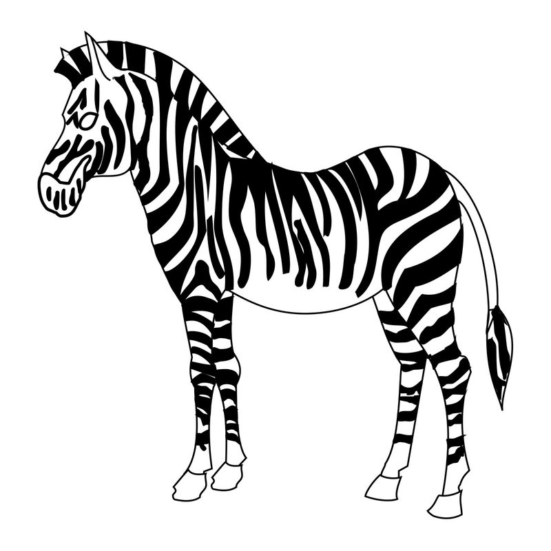 African Zebra Mask Printable Coloring Pages