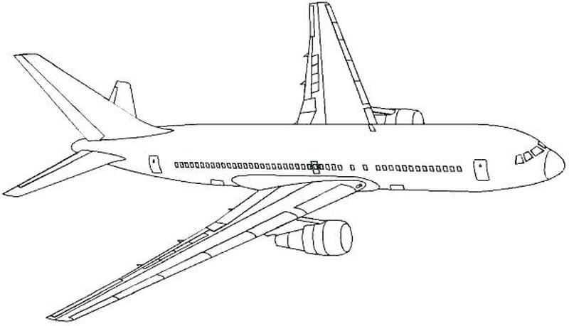 Airplane Aaa Coloring Pages