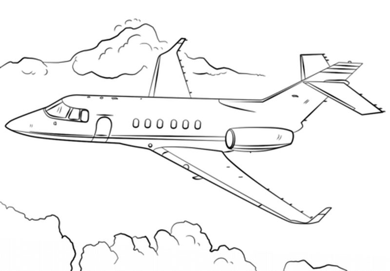 Airplane Coloring Pages For Kids Printable