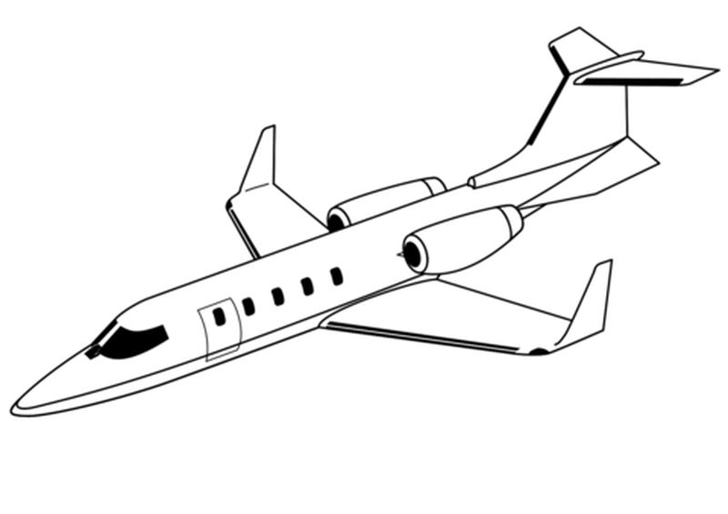 Airplane Coloring Pages Free
