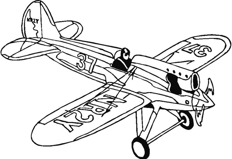 Airplane Pictures Coloring Pages