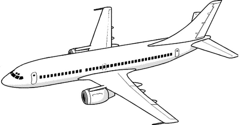 Airplane Printable Coloring Pages Free