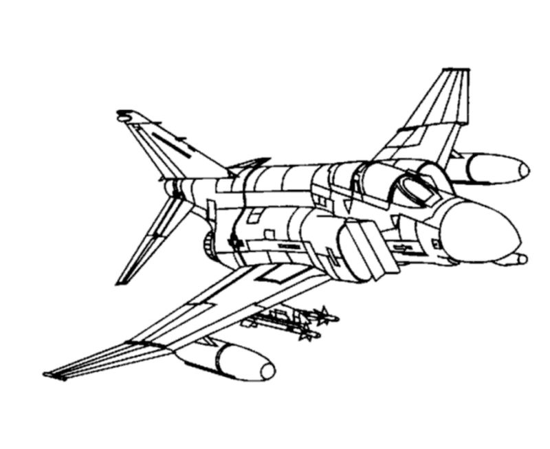 Airplane With Pilot Coloring Pages