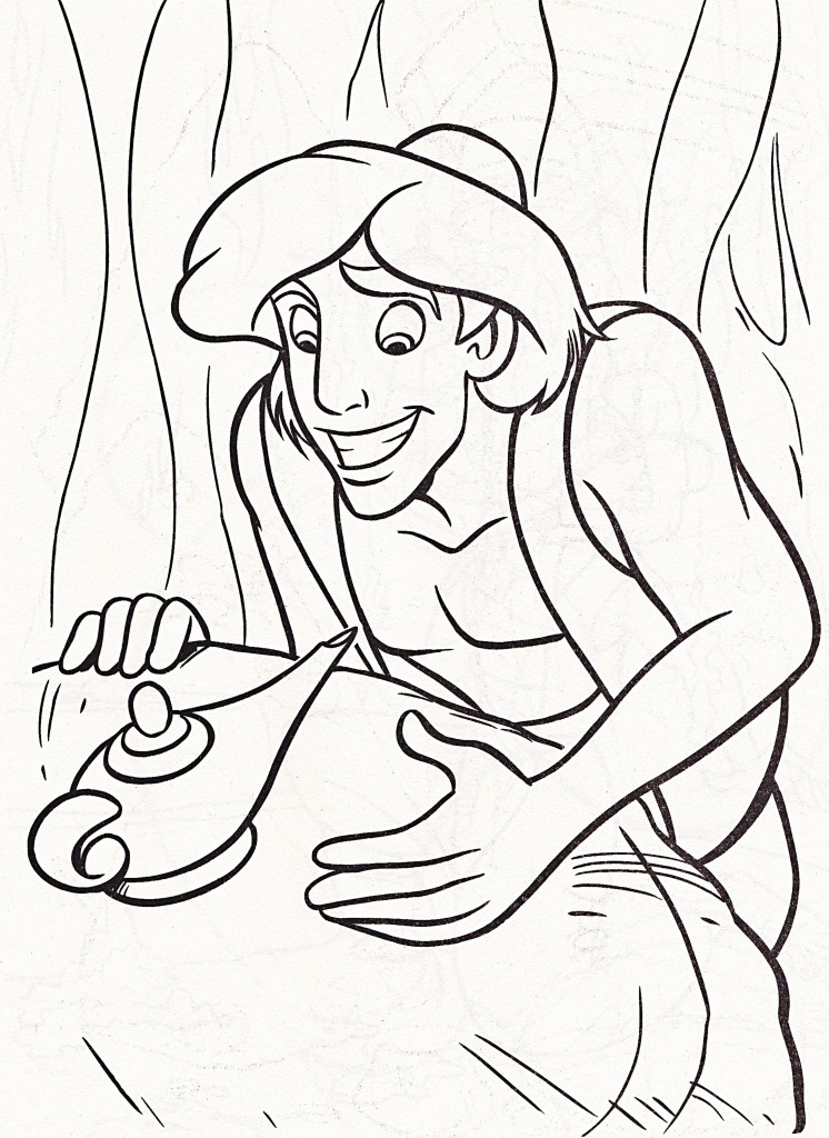 Aladdin And Genie Coloring Pages