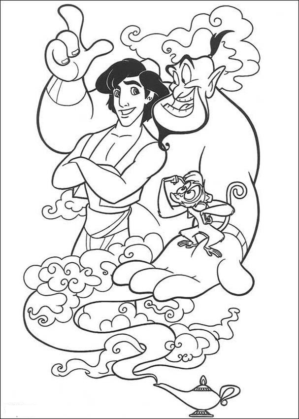 Aladdin Coloring Pages Easy
