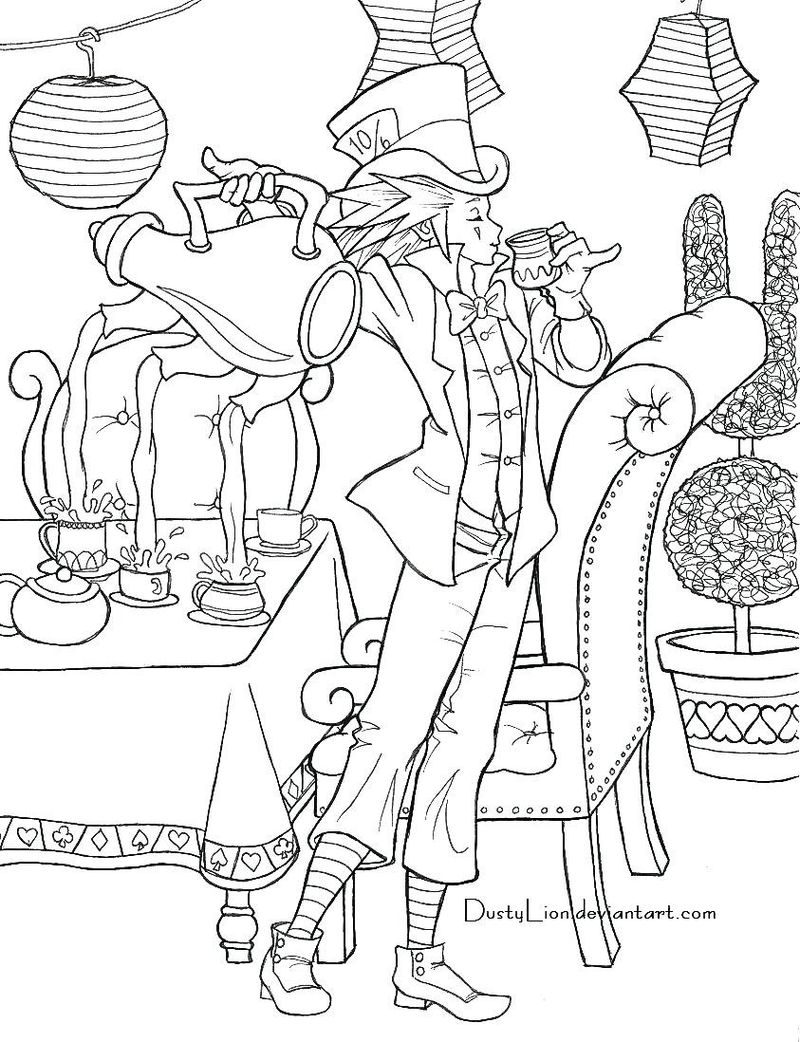 Alice And Wonderland Coloring Book