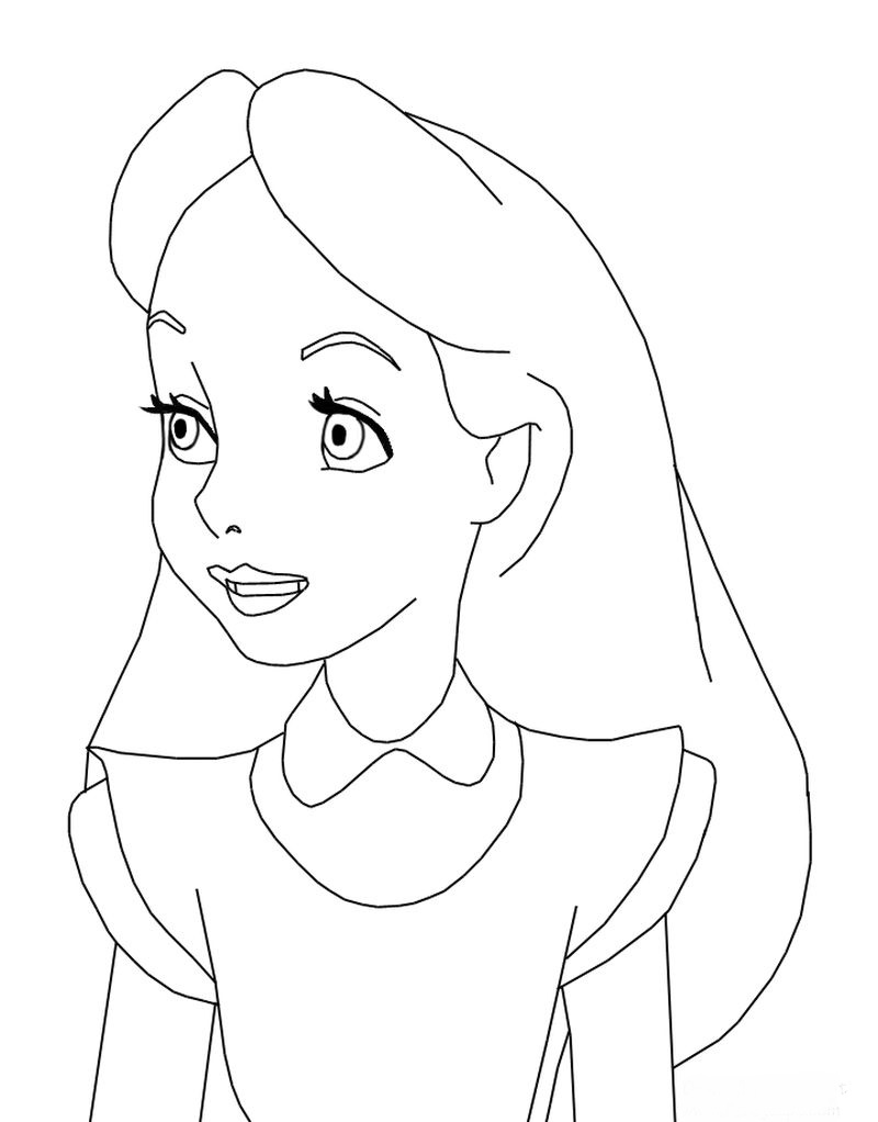 Alice And Wonderland Coloring