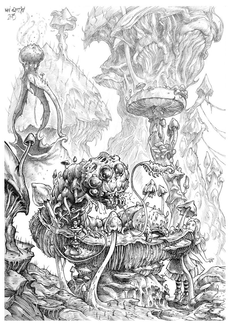 Alice In Wonderland Colouring Pictures