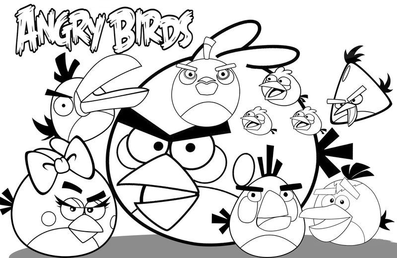 All The Angry Birds Coloring Pages