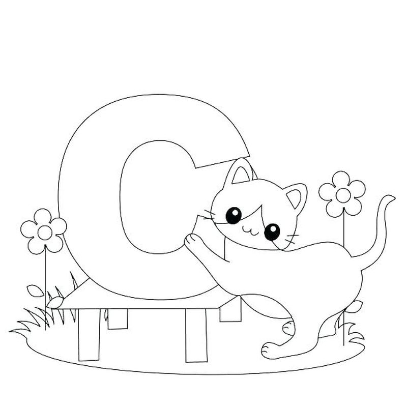 Alphabet Coloring Pages Free