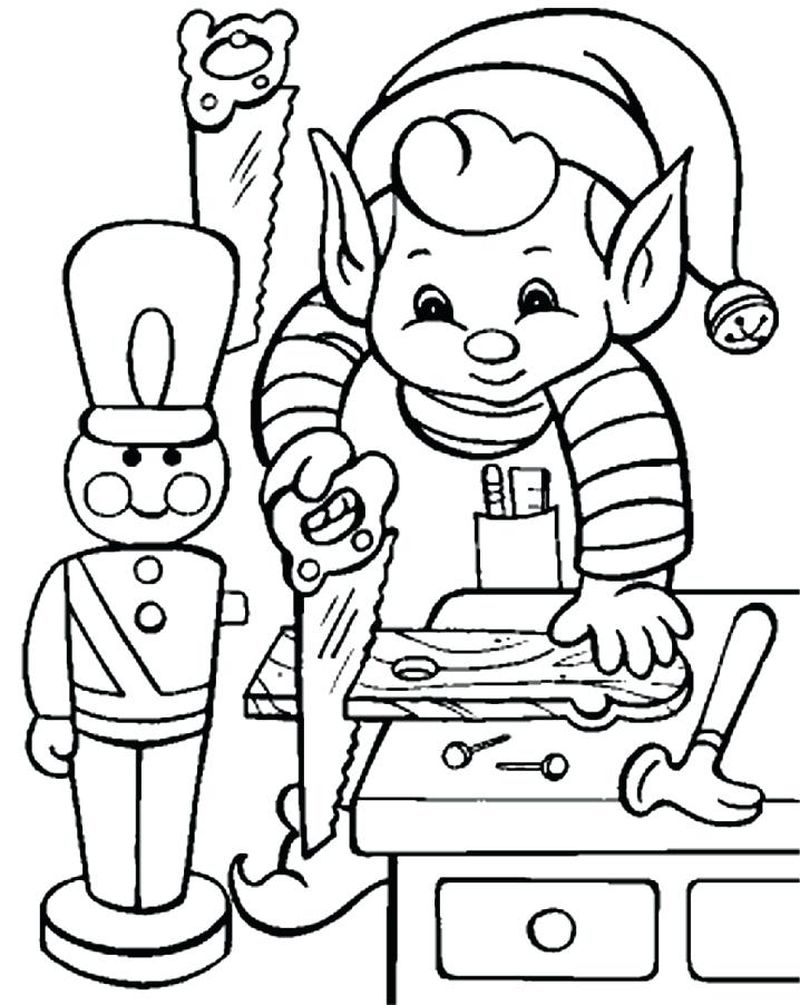 An Elfs Story Coloring Pages