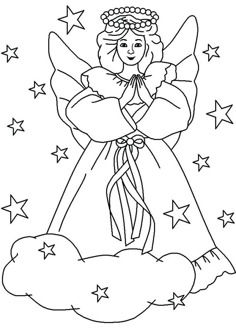 Angel Christmas Coloring Pages