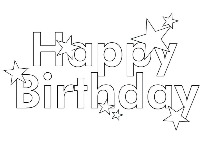 Angel Coloring Page Birthday