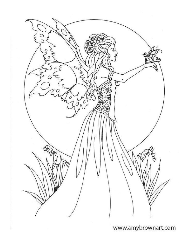 Angel Coloring Pages For Christmas