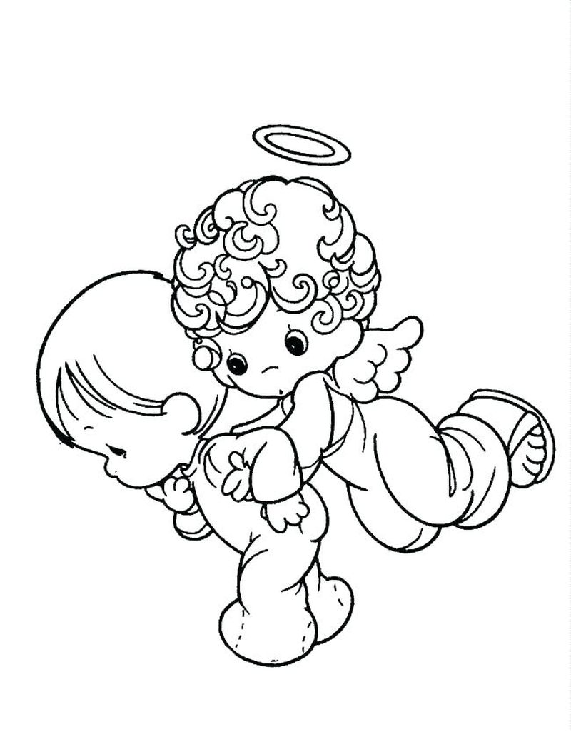 Angel Coloring Pages For Kids Free