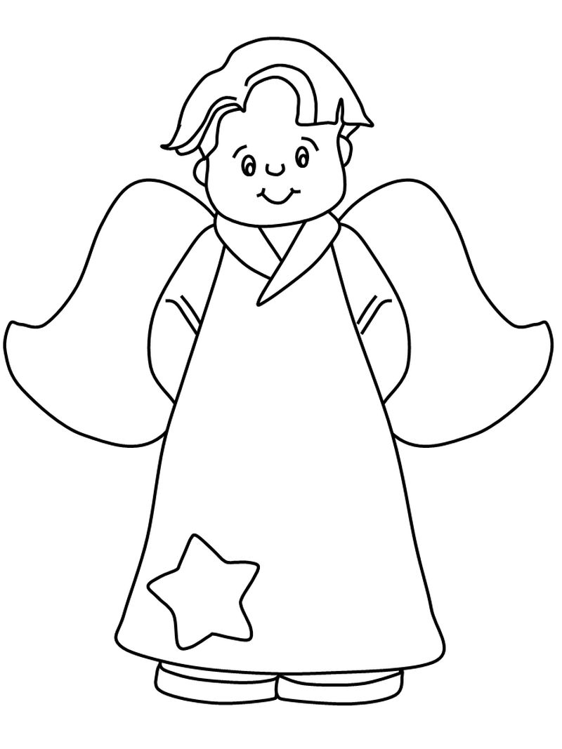 Angel Coloring Pages Kids