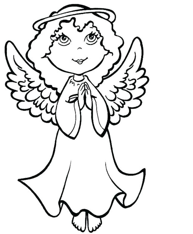 Angel Coloring Pages To Print