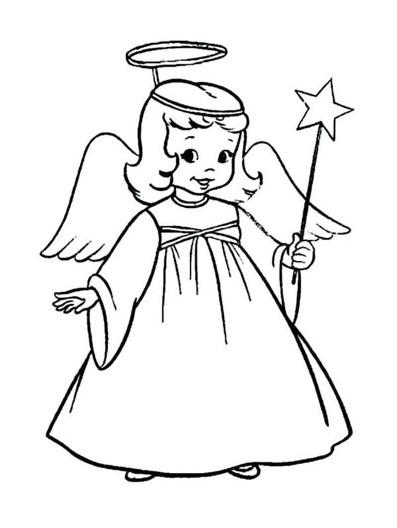 Angel Precious Moments Coloring Pages