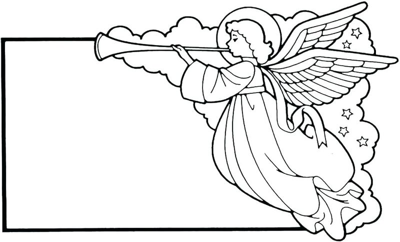 Angel Printable Coloring Pages