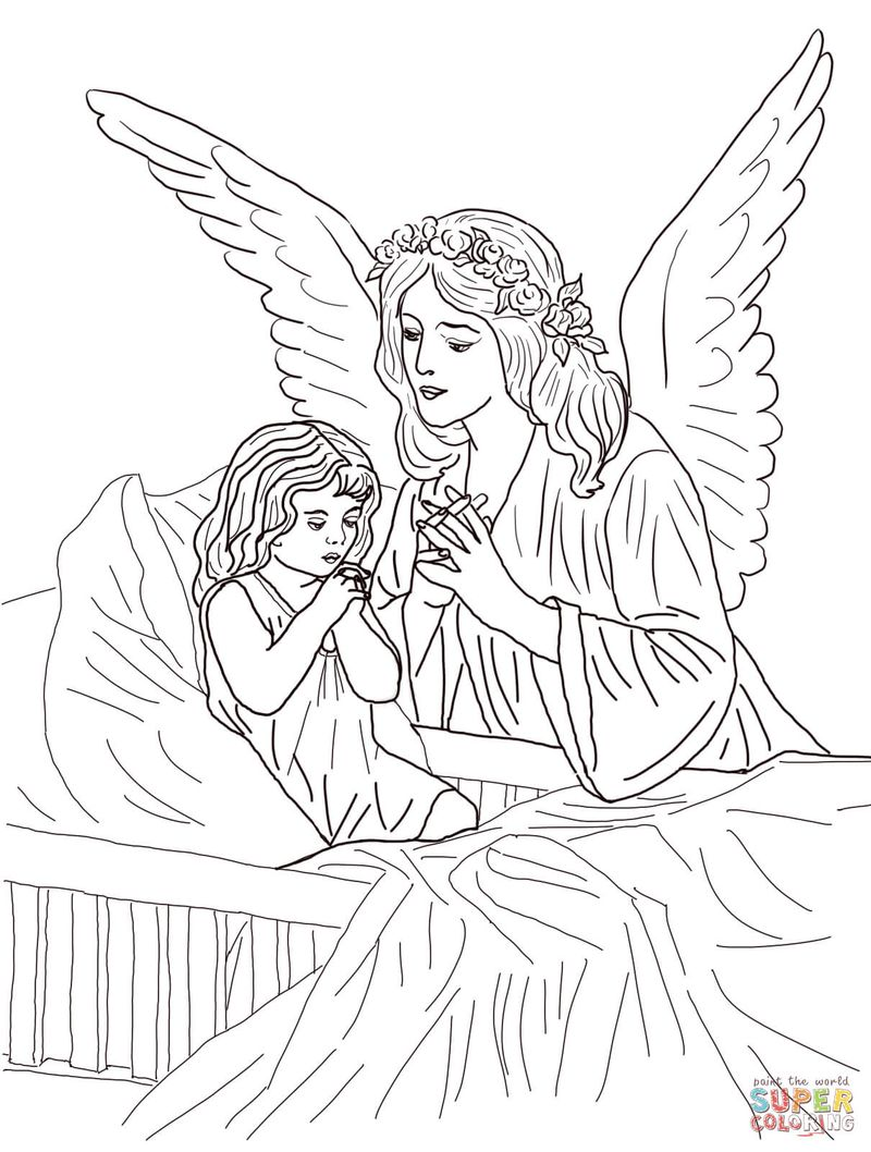 Angel Wings Coloring Pages