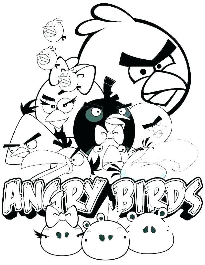 Angry Birds Bomb Bird Coloring Pages