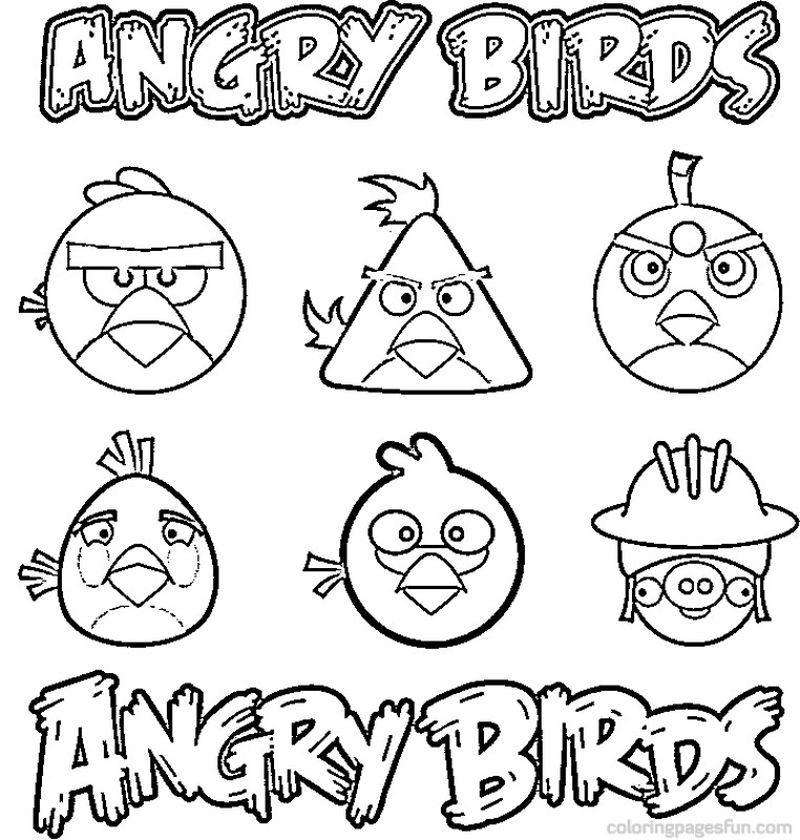 Angry Birds Coloring Pages Black Bird