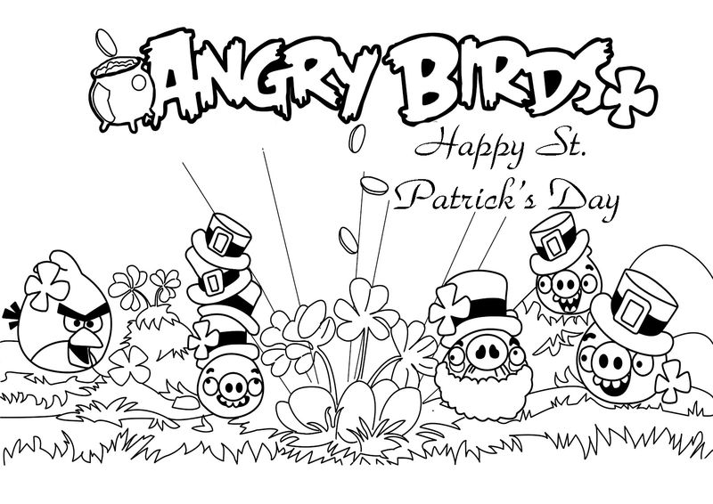 Angry Birds Coloring Pages Pigs