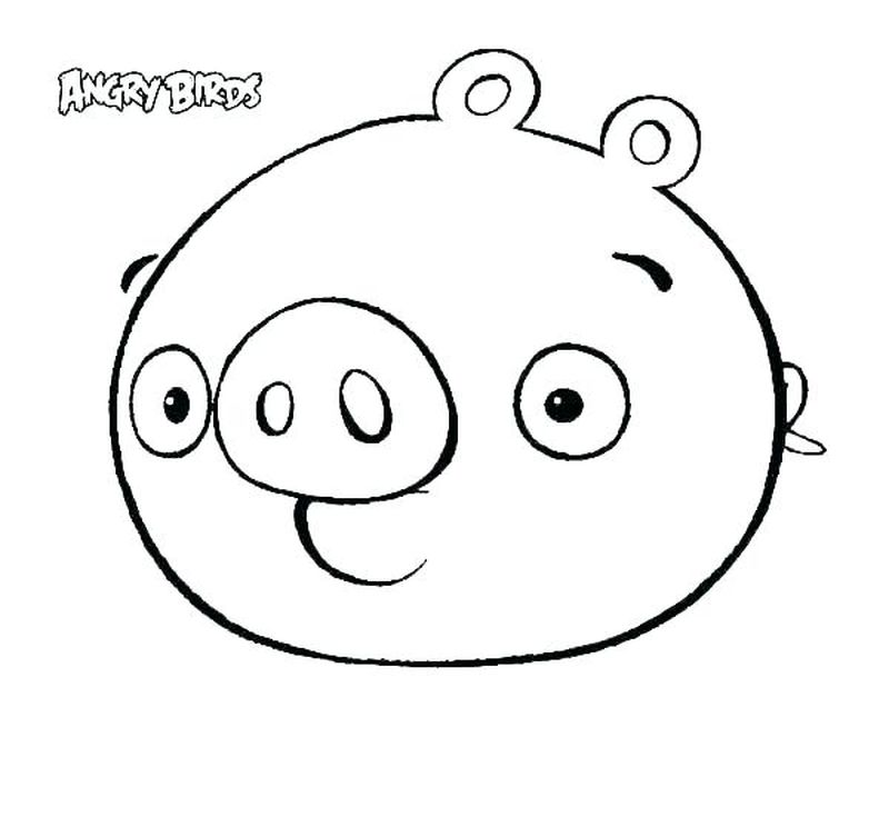 Angry Birds Green Bird Coloring Pages