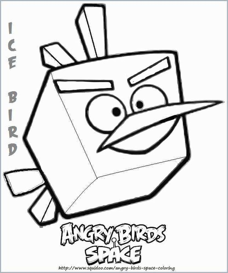 Angry Birds Red Bird Coloring Pages