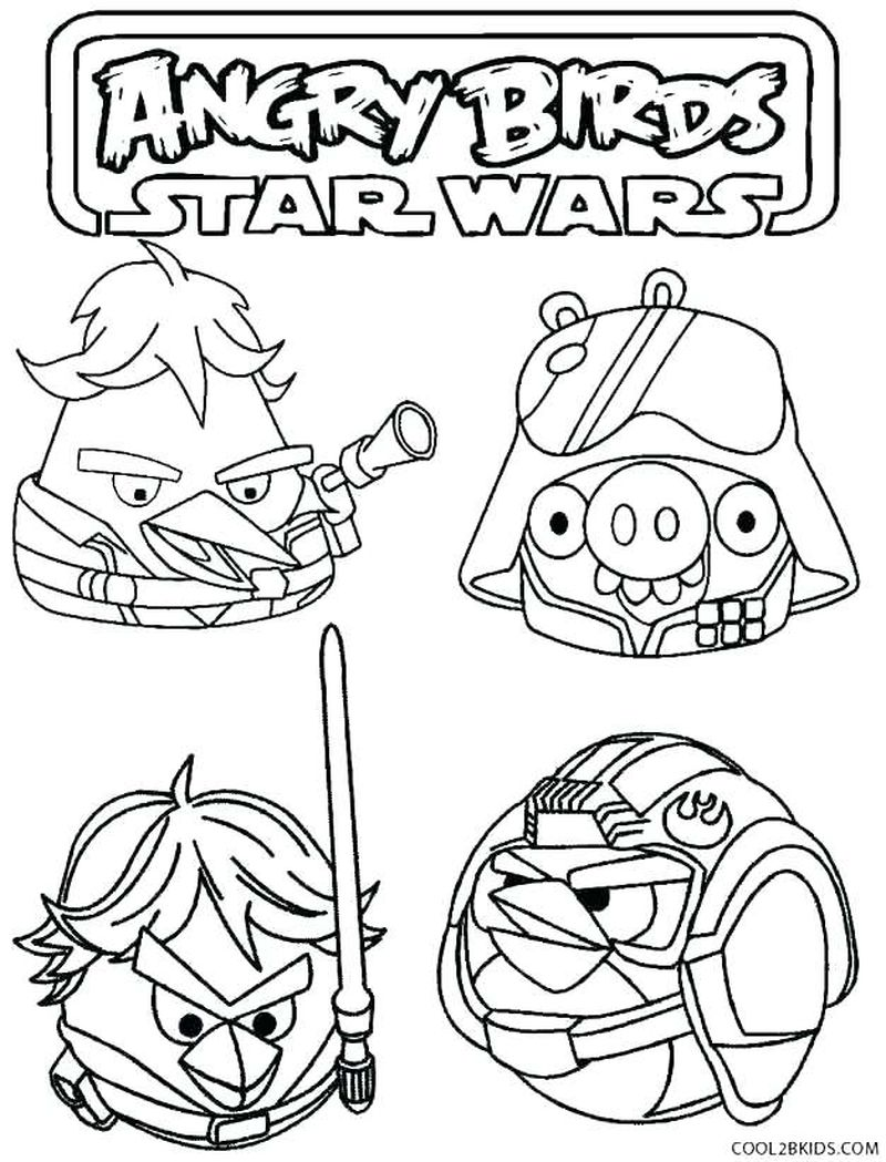 Angry Birds Space Coloring Pages To Print