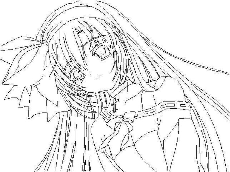Anime Cat Girl Coloring Pages For Girls