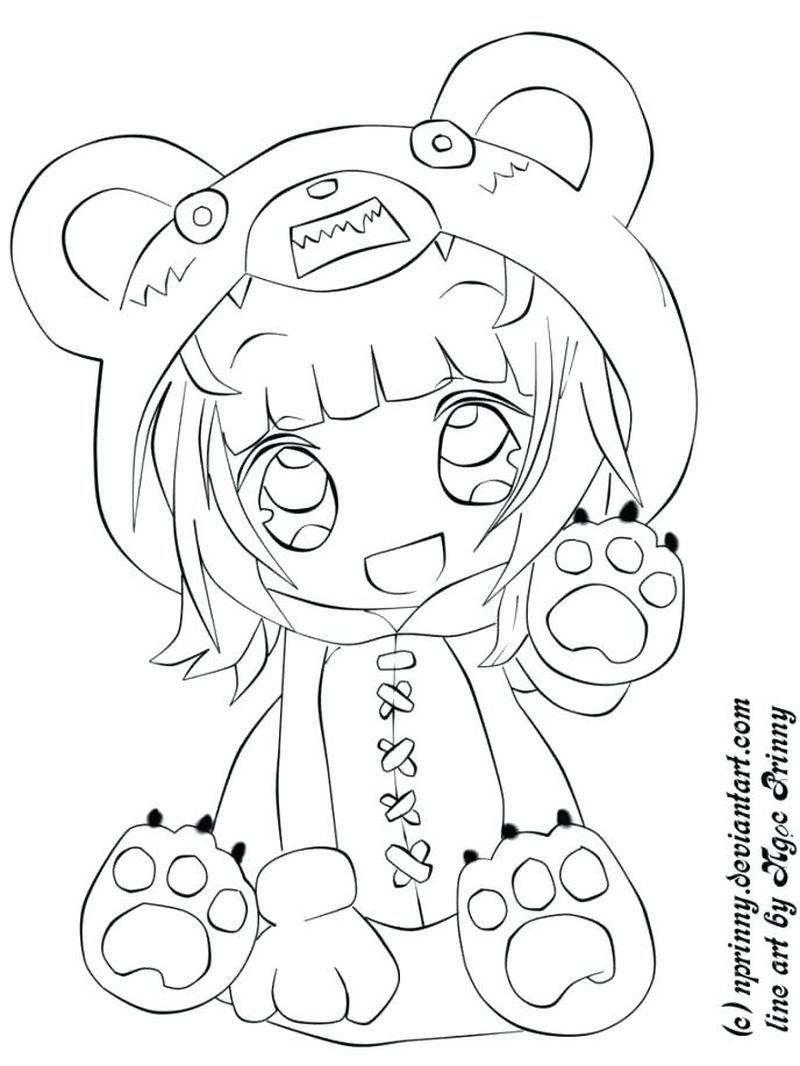 Anime Coloring Pages Boy And Girl