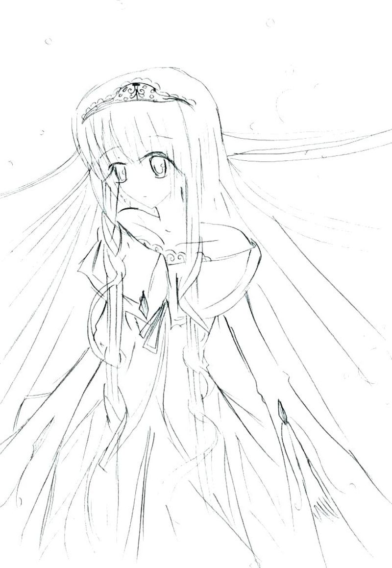 Anime Coloring Pages Girl