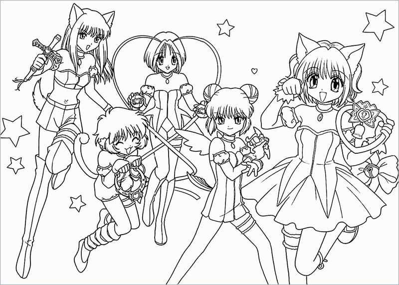 Anime Coloring Pages School Girl