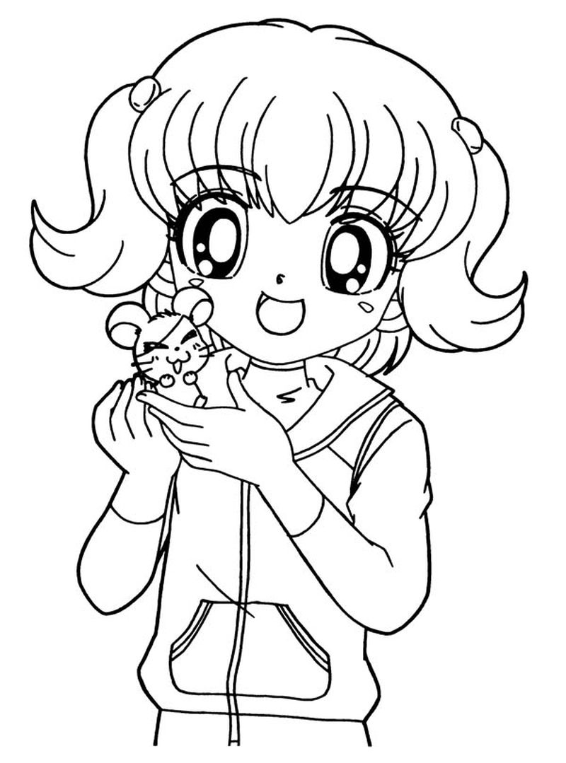 Anime Devil Girl With Baby Coloring Pages