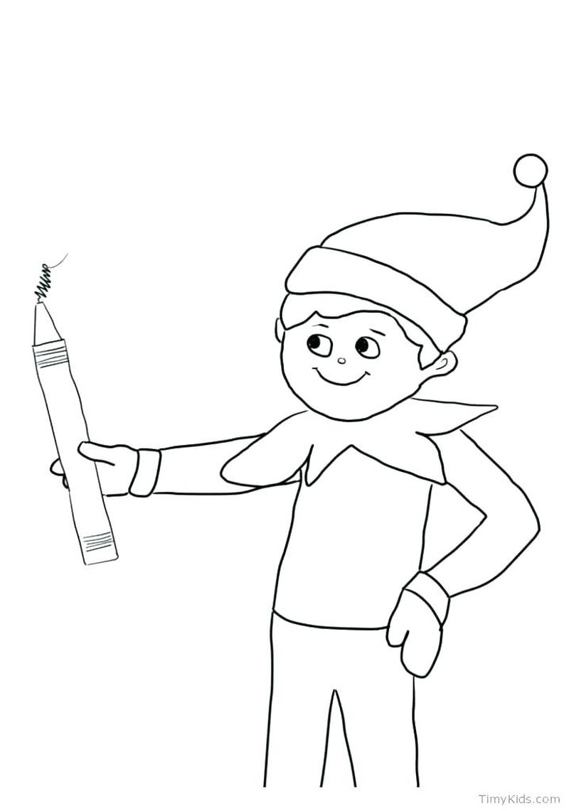 Anime Elf Girl Coloring Pages 1