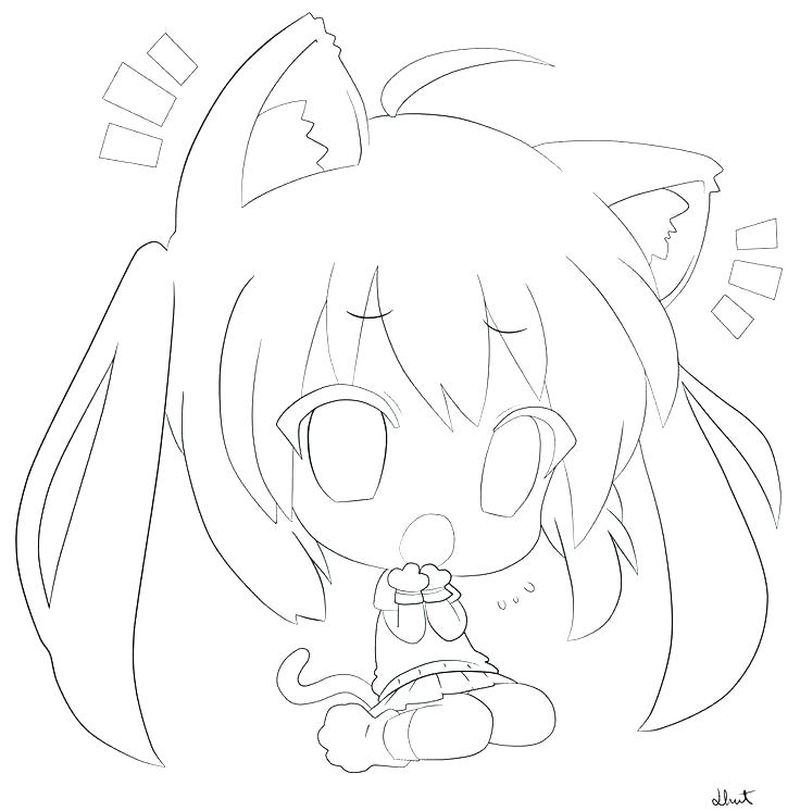 Anime Emo Girl Coloring Pages