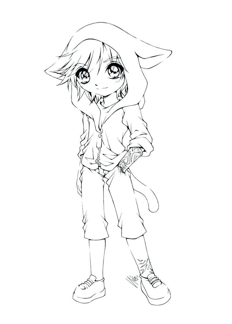 Anime Fox Girl Coloring Pages