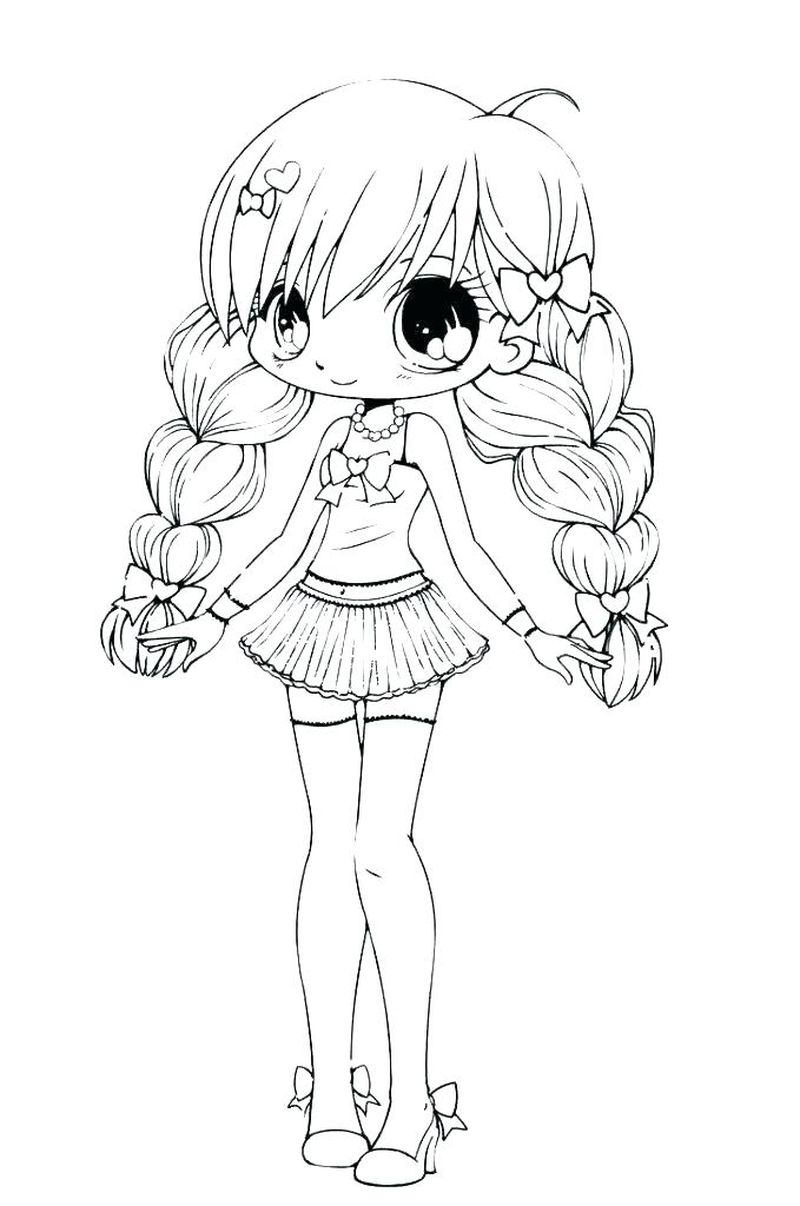 Anime Girl Chibi Coloring Pages